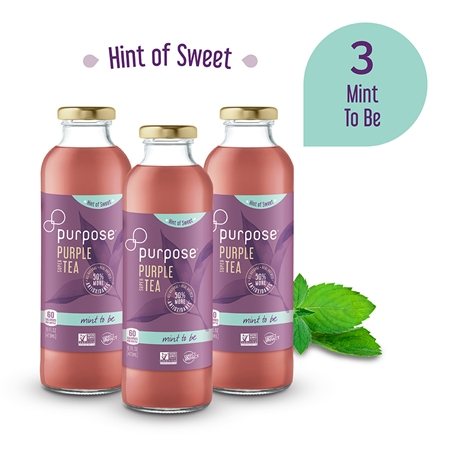 Hint of Sweet Mint to Be Purple Tea,    16 oz (3 Pack)